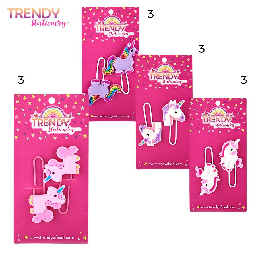 Distribuidor Mayorista Clips Blister x 2 Trendy