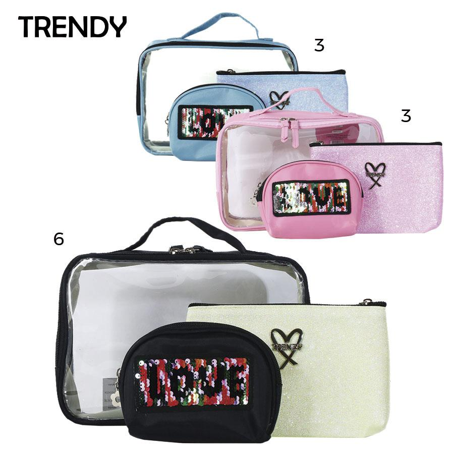 Distribuidor Mayorista Porta Cosmetico Set x 3  Trendy